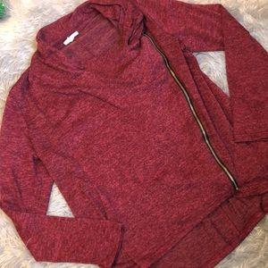Maurices Side Zipper Long Sleeve Sweater